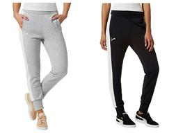 NEW Puma Women's French Terry Jogger Pant - BLACK // GREY -
