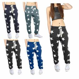 New Women Star Printed Trousers Ladies Bottoms Waistband Tra