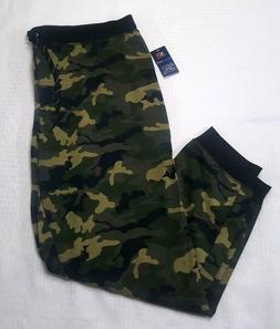 NWT 2XL  Fruit of the Loom Grommet Jogger Pants  Camo  Men's