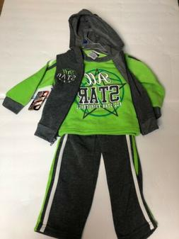 NWT Tuff Guys Baby Boys  2T 3 piece Jogger Outfit Set Color