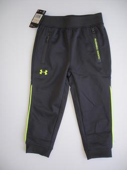 NWT Boy 2T - Under Armour Jogger Pant in Gray with Neon - Zi