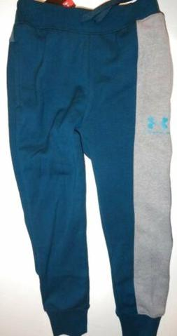 NWT Under Armour Boy's SMALL 8 Rival Joggers Sweatpants Teal