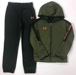 NWT Boy's Youth Under Armour Full Zip Jacket Jogger Pants Tr