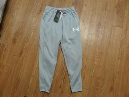 NWT Under Armour Boys   Gray Cold Gear Pants YLG JOGGERS
