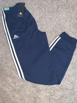 NWT Boys Adidas Navy Blue White Three Stripe Joggers Pants S