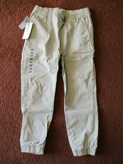 NWT Old Navy Boys Pull-On Built-In Flex Khaki Tan Joggers Pa