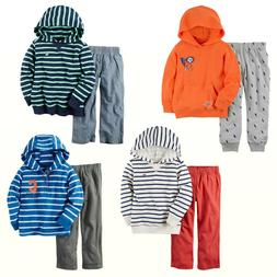 NWT Carter's Baby Boys Striped French Terry Hoodie & Pants/J