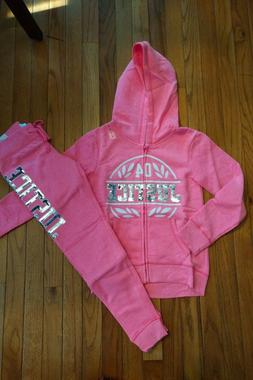 NWT Justice Girls Outfit Sequin Hoodie/Joggers Size 8 10 12