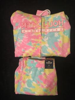 NWT Cotton Candy Hollister Jogger and Jacket Set