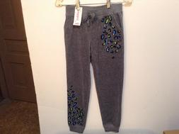 NWT!  Justice Jogger Pants for Girls Size 10 Soft Grey w/Seq
