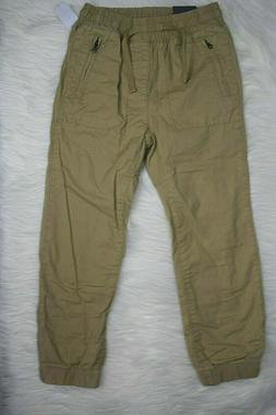 NWT Gap Kids Boy's Pull On Canvas Lined Jogger Pants Size S