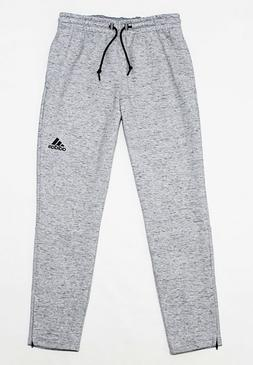 NWT ADIDAS Men's Marled Heather Gray Ankle-Zipper Sweatpants
