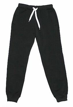 NWT SOUTHPOLE Men's Black Cuffed Pocket Fleece Sweatpants X-