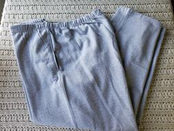 NWT Mens Lee Sweatpants Athletic Grey Open Bottom Cotton Ble