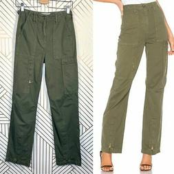 NWT Re/Done High-Waisted Cargo Pants in Army GreenWide Leg Z