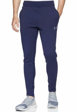 NWT Under Armour Rival Fleece Fitted Tapered Leg Joggers Pan