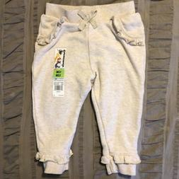 NWT Garanimals Size 12m Baby Girl Toddler Tan Beige Jogger S