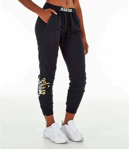 NWT WOMEN'S NIKE SPORTSWEAR RALLY METALLIC JOGGER PANTS AJ00