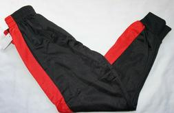 NWT Youth Boys Black & Red MAD GAME Sweatpants Joggers Pants