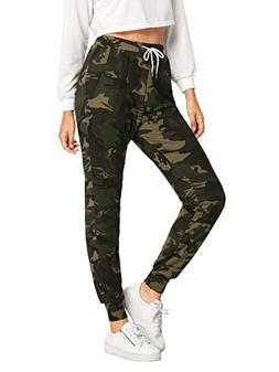 SweatyRocks Women Pants Drawstring Casual Yoga Jogger Pants