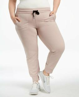 Calvin Klein Performance Women`s Plus Size 3X Joggers Cream
