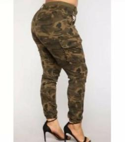 Fashion Nova Plus Size 2X Camo Pants/Joggers  New With Tag