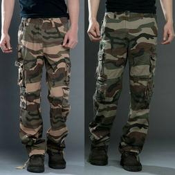 Plus Size Men Army Military Combat Cargo Camo Pants Hiking F