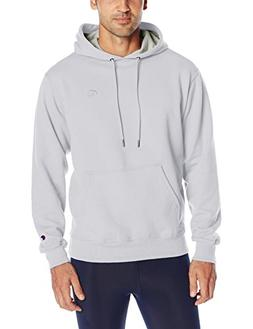 Champion Men's Powerblend Pullover Hoodie, White, Medium