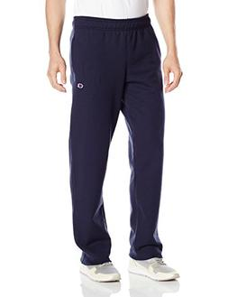 Champion Men's Powerblend Sweats Open Bottom Pants Navy XL