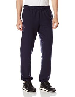 Champion Men's Powerblend Sweats Relaxed Bottom Pants Navy S