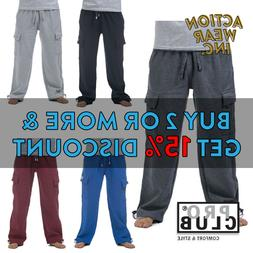 PROCLUB PRO CLUB MENS HEAVYWEIGHT CARGO SWEATPANTS FLEECE JO