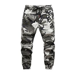 LOKTARC Boys Pull On Jogger Pants Camo Print Cuff Jogging Bo
