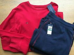 Tommy Hilfiger Red Navy Thermal Longsleeve Shirt + Joggers P