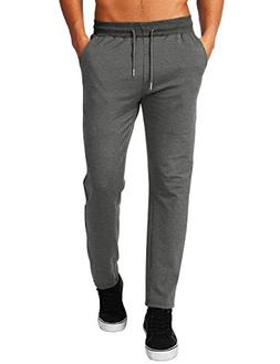 HEMOON Ribs Waistband Jogger Pants, Men's Casual Jogging Pan