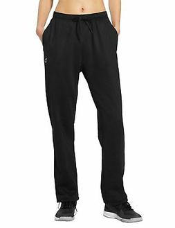 Baleaf Women's Running Thermal Fleece Pant Zip Pocket Sweatp