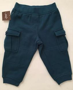 TEA Collection Size 9-12 months Boys Cargo Joggers Pants Tea