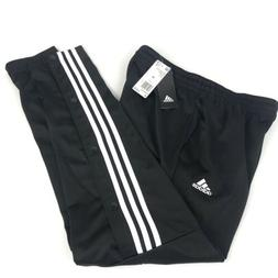 Adidas Snap Button Joggers Warm Up Pants Mens M Soccer Black