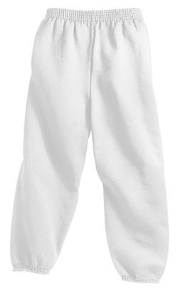 Youth Soft and Cozy Sweatpants in 8 Colors. White