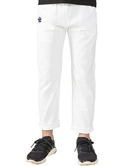 BYCR Boys' Solid Color Elastic Chino Cotton Pant for Kids Si