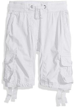 Southpole Little Boys' Solid Twill Cargo Jogger Shorts White