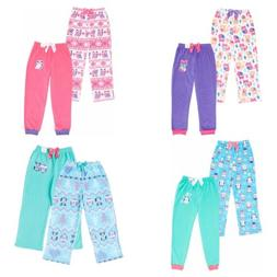 St. Eve Pajama Sleep Pant for Girls - 2 Pack - Jogger, Strai