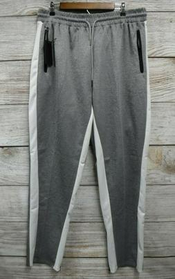Steve's Jeans Joggers Mens 3X Grey & White Track Pants with