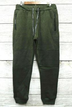 Steve's Jeans Mens Medium Olive Space Dyed Zipper Pocket Swe