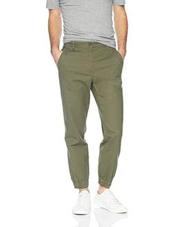 Amazon Essentials Men's Straight-Fit Jogger Pant, Olive, Med