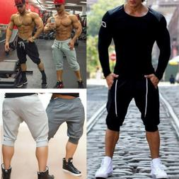 Summer Men's 3/4 Knee Casual Jogger Sports Shorts Baggy Gym