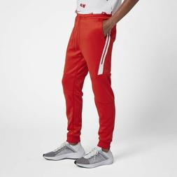 Nike Tech Icon Pack Knit Pants Joggers HABANERO RED WHITE OR