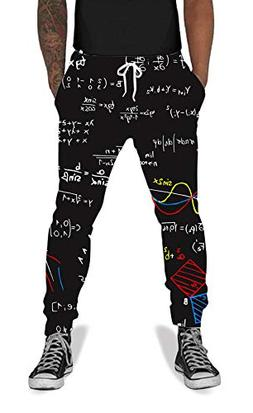 UNIFACO Teen Boys Girls 3D Printed Math Formula Baggy Jogger