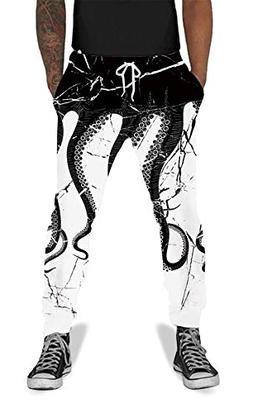 UNIFACO Teenager 3D Digital Print Octopus Jogger Pants Casua
