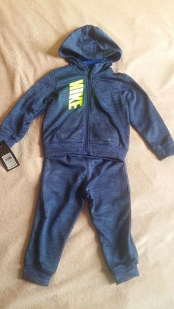 Nike Toddler Boy 2-Piece Set Tracksuit 24 Mon. Blue & Green,