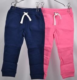 Lot of 2 Toddler Girl's Carters French Terry Jogger Pants, N